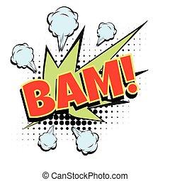 bam comic word. Pop art retro vector illustration