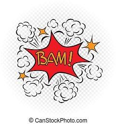 bam explode cartoon illustration - Bam explode cartoon...