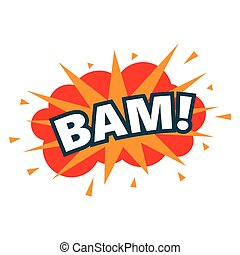 BAM. wording sound effect set. Comic speech bubble...