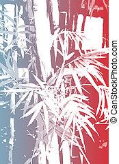 bambù, asiatico, astratto, fondo, carta da parati