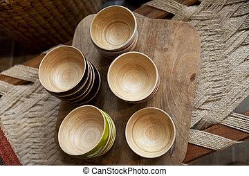 bambù, ciotole
