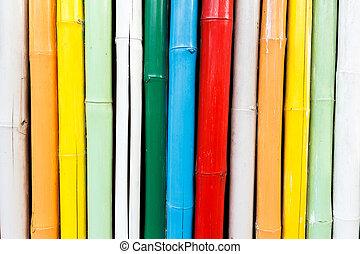bambù, colorito, struttura