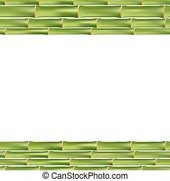 bambù, cornice, isolato