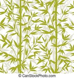 bambù, pattern., seamless