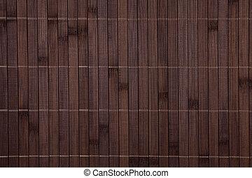 bambù, placemat, struttura