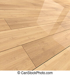 bambù, tegole, pavimentazione, 3d