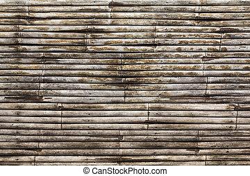 bambù, vecchio, struttura
