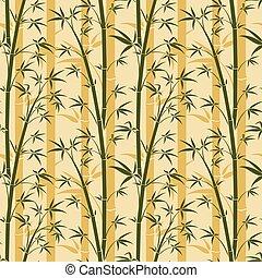 bambù, vettore, albero, seamless, fondo