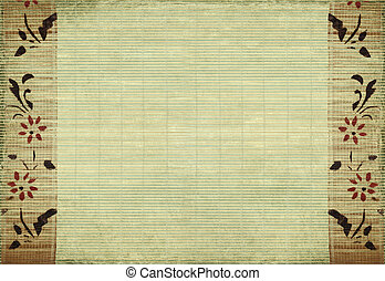 bambú, flor, plano de fondo