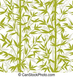 bambú, pattern., seamless