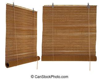 bambú, persianas