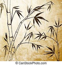 bambú, pintura