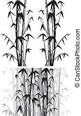 bambú, plano de fondo