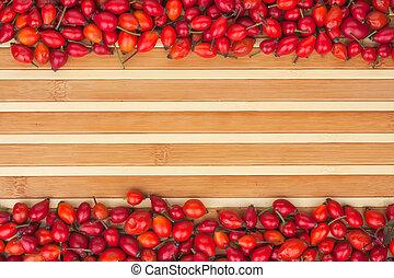 bambú, rosehip, estera