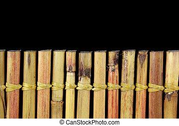 bambú, y, texto, espacio