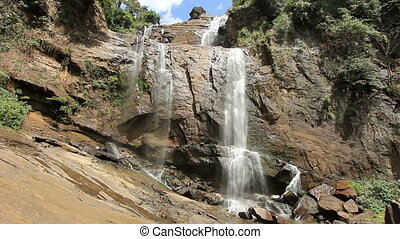 Bambarakanda waterfall, sri lanka
