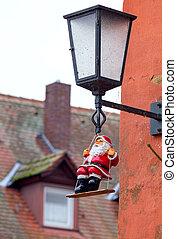 Bamberg. Christmas toy Santa Claus.