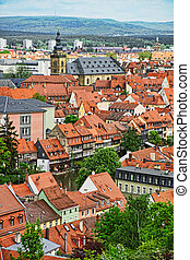 Bamberg city center in Bavaria in Germany