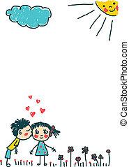 bambini, bacio