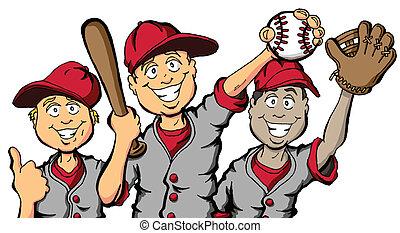 bambini, baseball