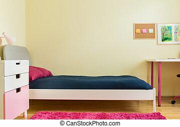 bambini, camera letto