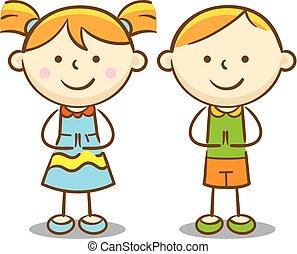 bambini, caucasico