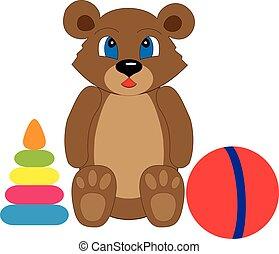 bambini, collezione, giocattoli