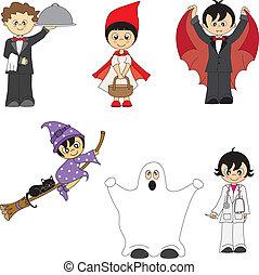 bambini, costumed