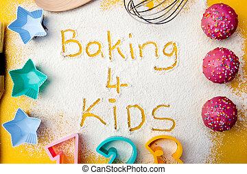 bambini, cottura, 4