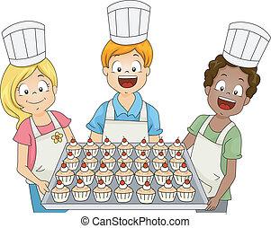 bambini, cupcake