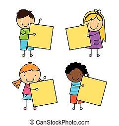 bambini, disegno