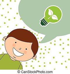 bambini, ecologico
