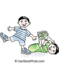 bambini, ginnastica