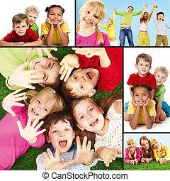 bambini, gioioso