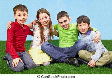 bambini, gruppo