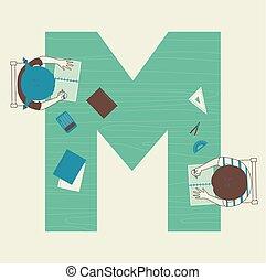 bambini, illustrazione, matematica, alfabeto, scuola