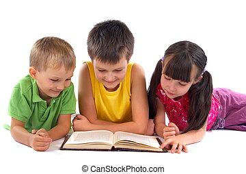bambini, libro lettura