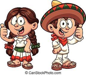 bambini, messicano