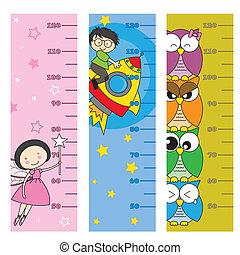 bambini, metro, altezza