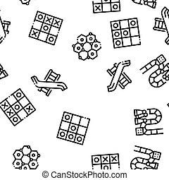 bambini, modello, seamless, vettore, giochi, interattivo