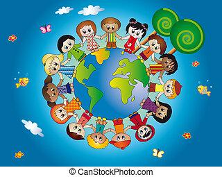 bambini, mondo