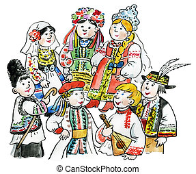 bambini, multicultural