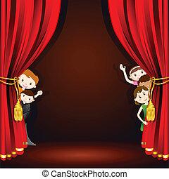 bambini, palcoscenico
