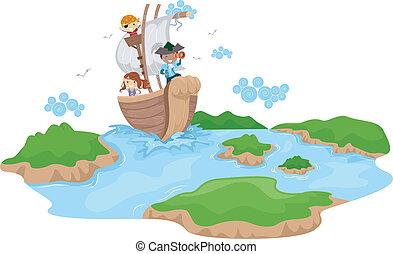 bambini, pirata