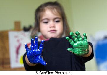 bambini, pittura
