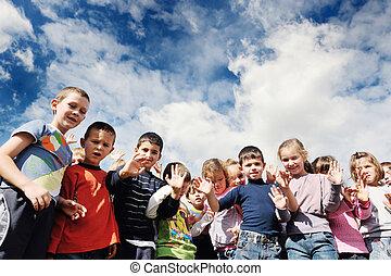 bambini, prescolastico