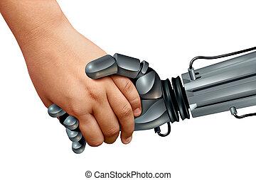 bambini, robot