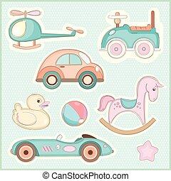 bambini, set, giocattoli