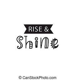 bambini, shine., manifesto, alzarsi, inspirational, hipster