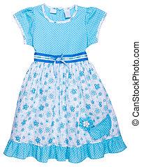 "bambini, shirt., isolato, ""girl, dress"", vestire"